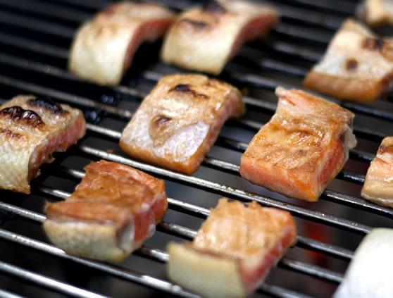 鮭トロ炭焼き
