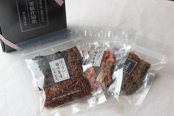 一人茶漬・鮭茶漬・黒毛和牛の佃煮